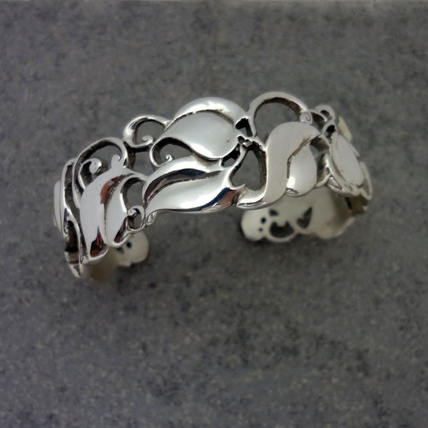 The Hartford Ivy Cuff Bracelet - Handmade in Sterling Silver