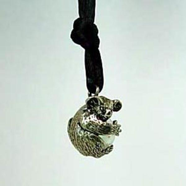 Koala Pawjama Pendant handmade in Sterling or 14k Gold by All Animal Jewelry
