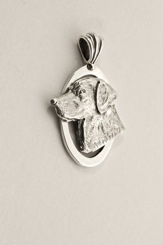 labrador dog pendant, hand made by All Anmal Jewelry