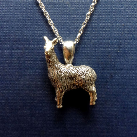 Llama Pendant handmade in Sterling or 14k gold by Tosa Fine Jewelry