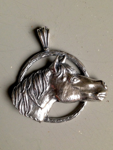 New Item - Handmade Quarter Horse Pendant  in Sterling Silver or Gold