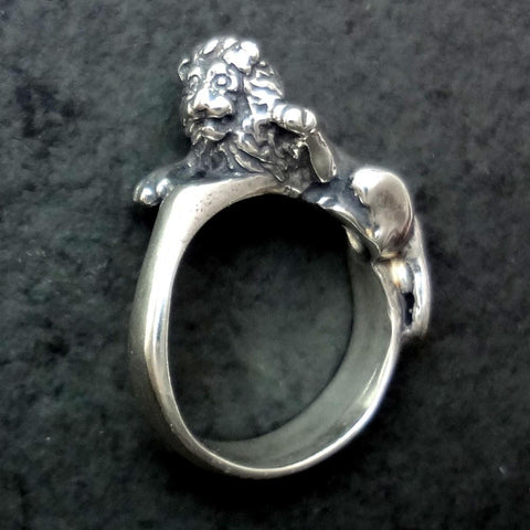 Lion Ring handmade in Sterling or 14k Gold by All Animal Jewelry