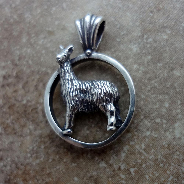 Llama Pendant handmade in Sterling or 14k gold by All Animal Jewelry