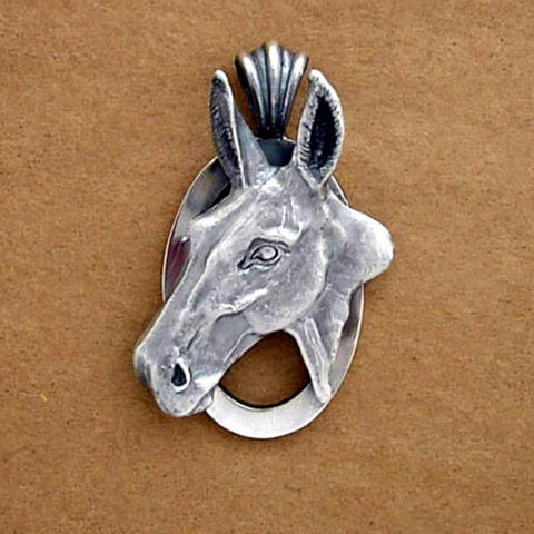 Mule Head Pendant handmade in Sterling or 14k Gold by All Animal Jewelry