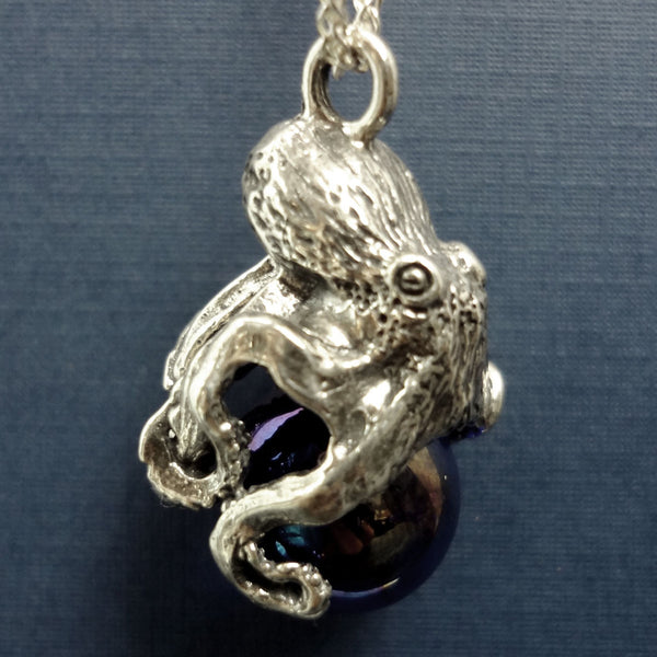 Octopus Pawjama Pendant handmade in Sterling or 14k Gold by Tosa Fine Jewelry