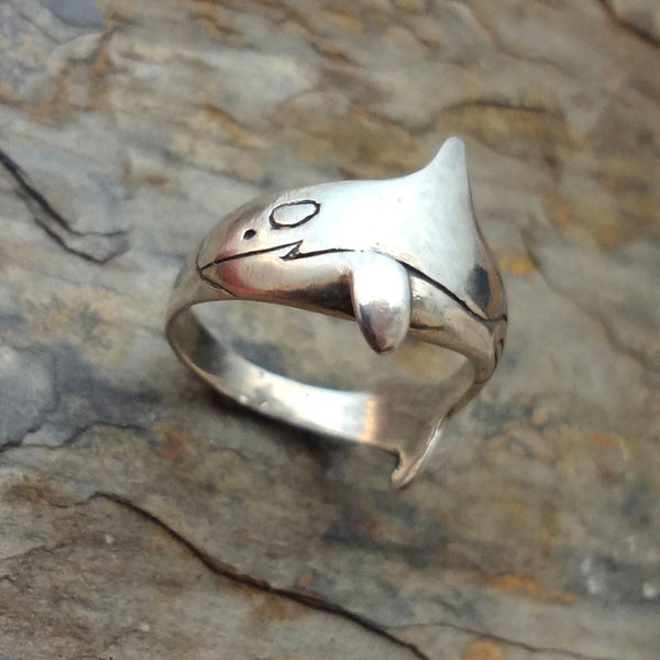 Orca Killer Whale Ring handmade in Sterling or 14k Gold by All Animal Jewelry