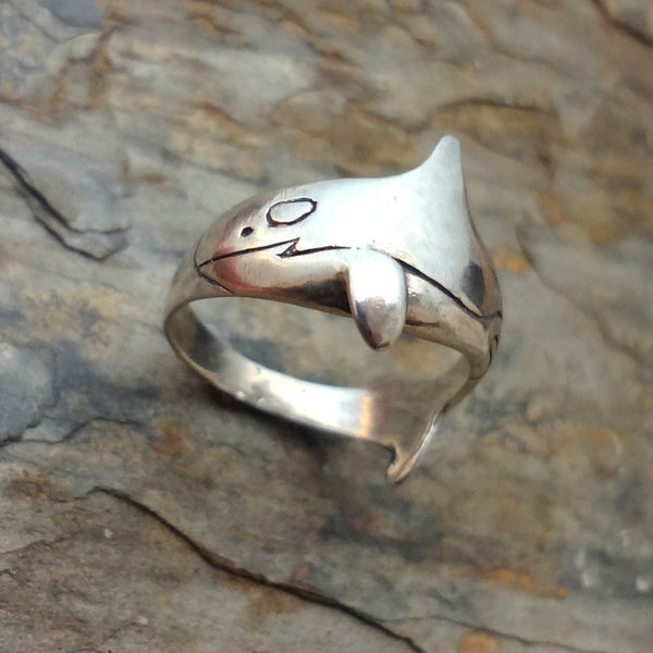 Orca - Killer Whale  Ring - Handmade in 14k Gold or Sterling Silver
