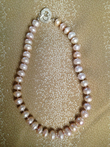 Gorgeous Freshwater Pearl Strand - 18.5 inches, Sterling Silver