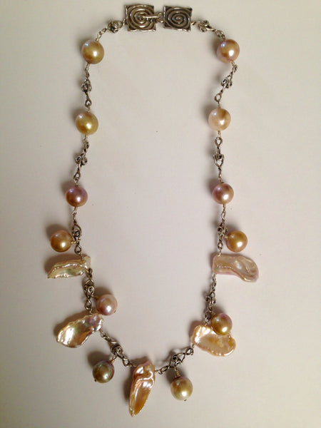 Tribal Unique Cultured Pearl Necklace