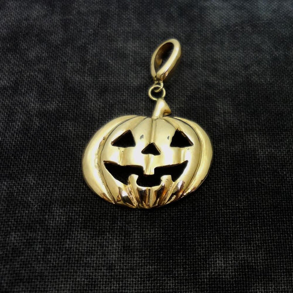 Pumpkin Pendant, Large, handmade in Sterling or 14k Gold by All Animal Jewelry
