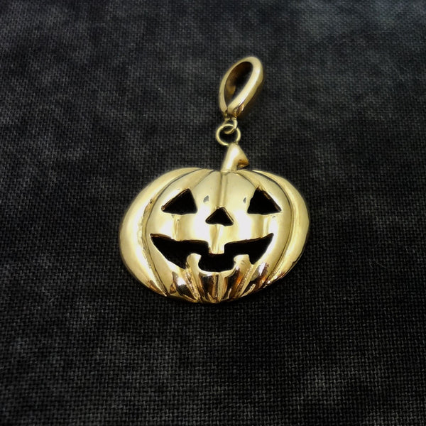 Pumpkin Pendant, Large, handmade in Sterling or 14k Gold by Tosa Fine Jewelry