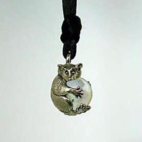 Raccoon Pawjama Pendant handmade in Sterling or 14k Gold by All Animal Jewelry