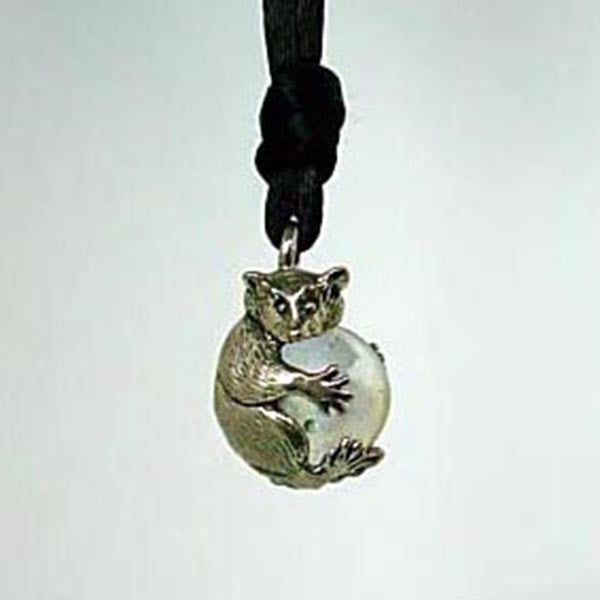 Raccoon Pawjama© Pendant - Handmade in Sterling Silver