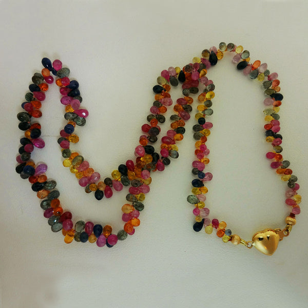 14k Gold and Multi-Colored Sapphire Necklace
