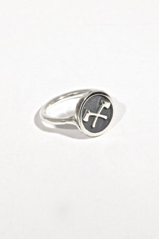 Scout Logo - Women's Crossed Axes in Relief Ring - Exclusive