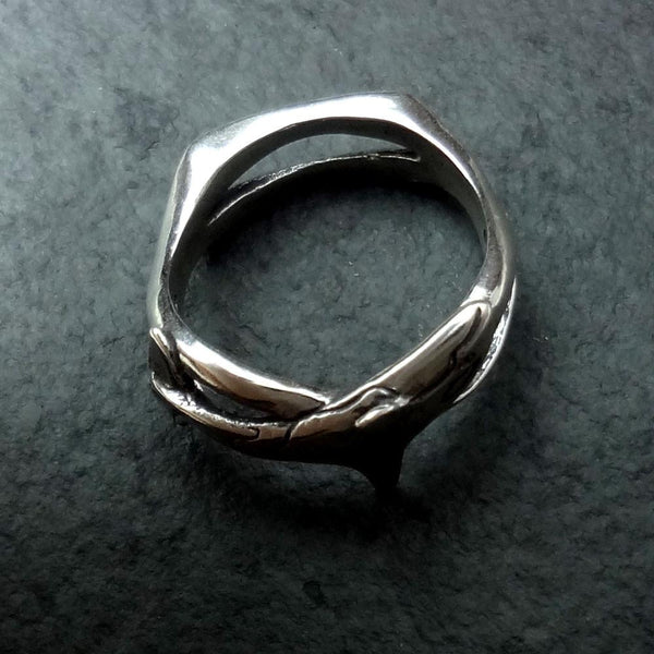 Orca - Killer Whale Wave Ring handmade in Sterling or 14k Gold by All Animal Jewelry