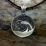 Sunset Wave Pendant in Silve4r
