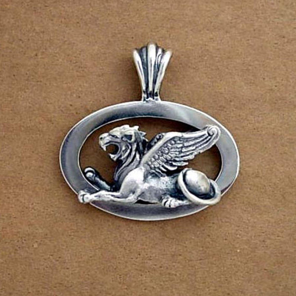 Sphinx Pendant handmade in Sterling or 14k Gold by All Animal Jewelry