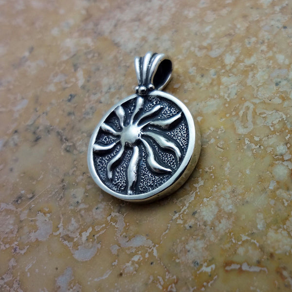 Sunshine Circle Pendant  handmade in Sterling or 14k Gold by Tosa Fine Jewelry