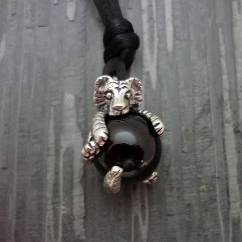 Tiger Pawjama Pendant handmade in Sterling or 14k Gold by All Animal Jewelry
