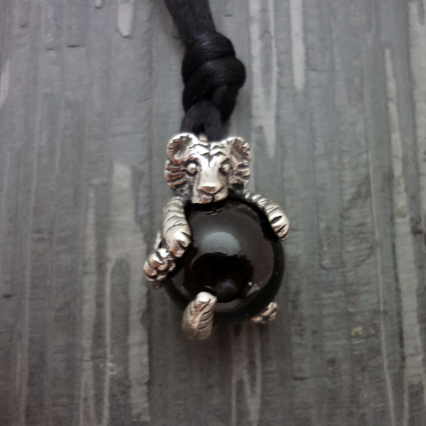 Tiger Pawjama Pendant handmade in Sterling or 14k Gold by Tosa Fine Jewelry