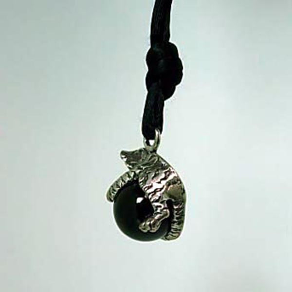 Tiger Pawjama© Pendant - Handmade in Sterling Silver