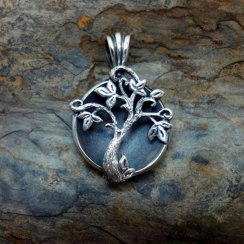 Tree of Life Pendant handmade in Sterling or 14k Gold by Tosa Fine Jewelry