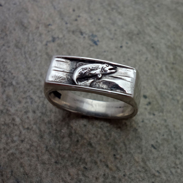 Trout Ring - Handmade in 14k Gold or Sterling Silver