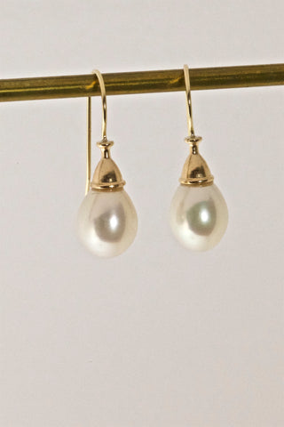 Gorgeous White Cultured Pearl Earrings