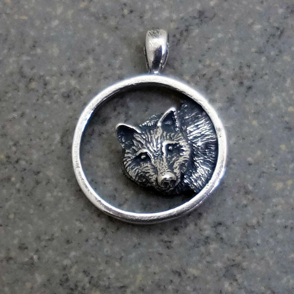 Wolf Pendant - Handmade in 14k Gold or Sterling Silver - Wholesale