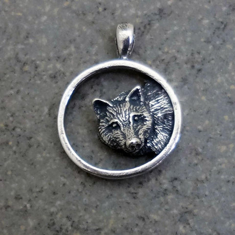 Wolf Pendant handmade in Sterling or 14k Gold by All Animal Jewelry