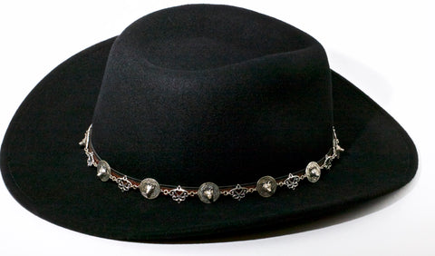 Custom Made Hat Band for Cowboy Hat - Wolf  Dream Catcher