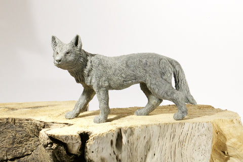 Coyote Sculpture - Beautifully Detailed Hand Carved