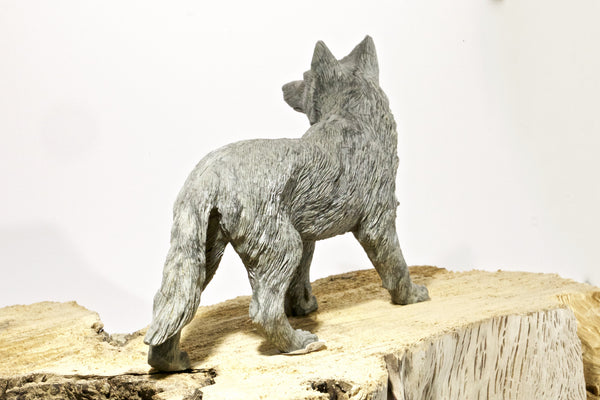 Coyote Sculpture - Beautifully Detailed Hand Carved - SOLD!