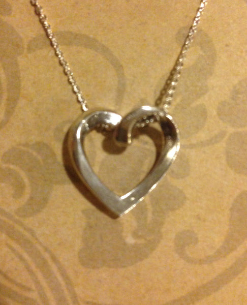 Floating Heart Pendant - Handmade in Sterling or Gold