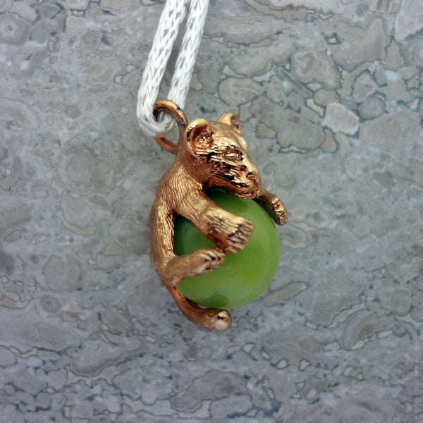 Lion Cub Pawjama Pendant handmade in Sterling or 14k Gold by Tosa Fine Jewelry