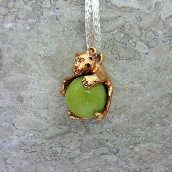 Lion Cub Pawjama Pendant handmade in Sterling or 14k Gold by All Animal Jewelry