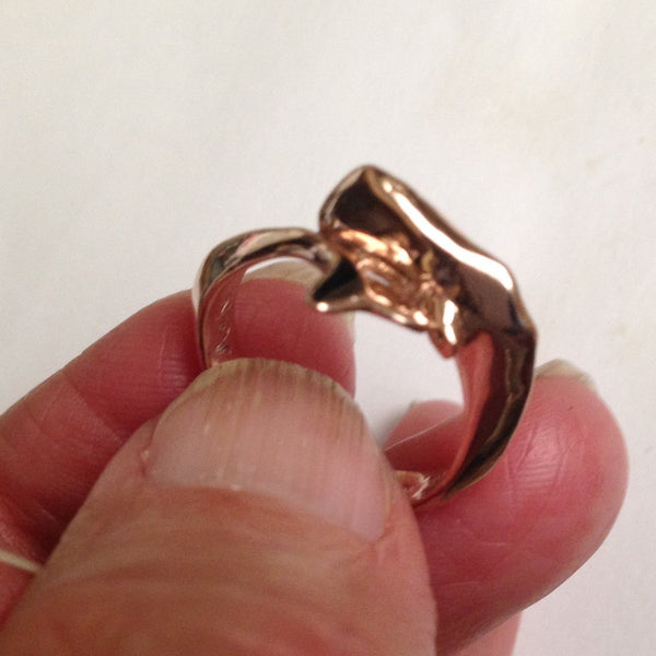 Sperm Whale Ring handmade in Sterling or 14k Gold by All Animal Jewelry