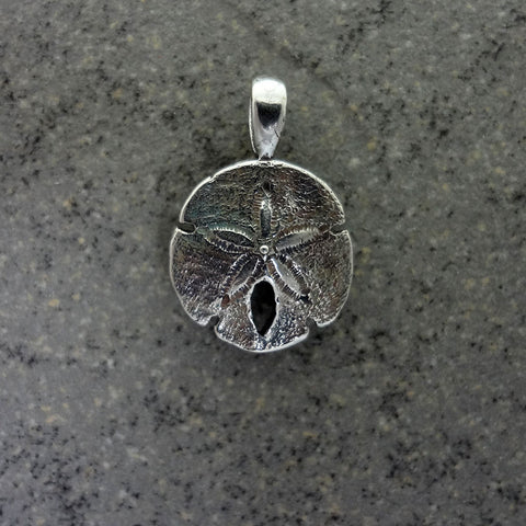 Sand Dollar Pendant, Small, handmade in Sterling or 14k gold by Tosa Fine Jewelry