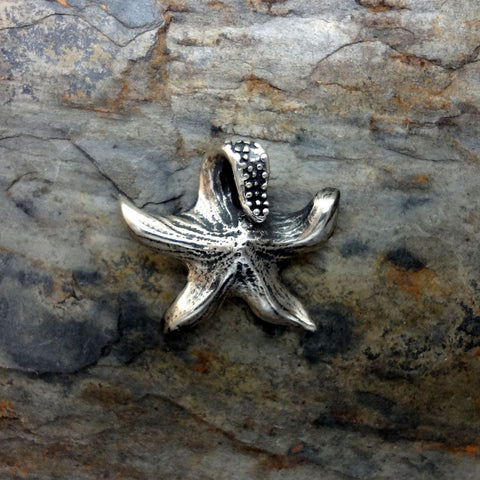 Starfish Pendant handmade in Sterling or 14k Gold by Tosa Fine Jewelry