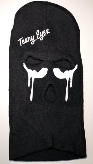 Black and white Teary Eyez ski mask.