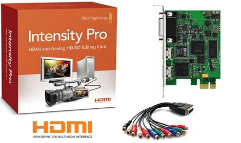 Blackmagic Design Intensity Pro Hdmi Analog Editing Card Avt Ca