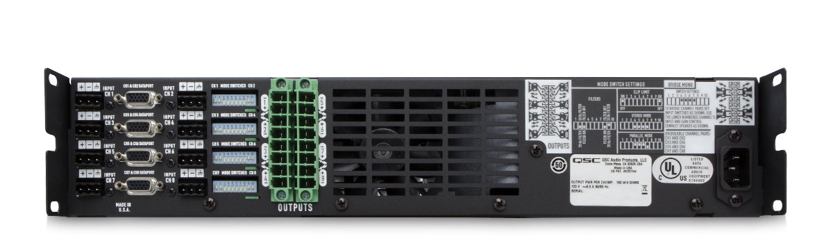 QSC CX168 8-Channel Low-Z Power Amplifier