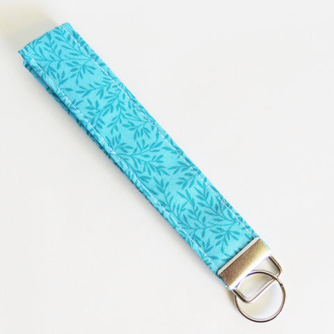 Aqua self fabric Key fobs, key rings, key chain, fabric key fob