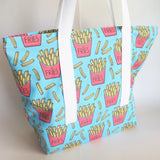 french fries, potato chips tote bag