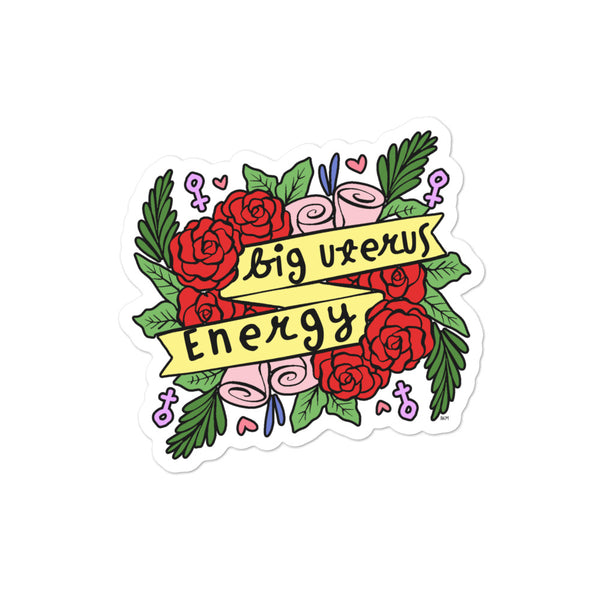 Big Uterus Energy Sticker