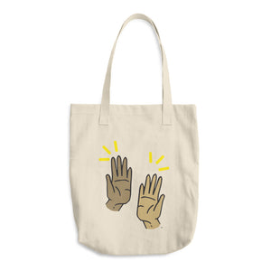 High Five Cotton Tote Bag