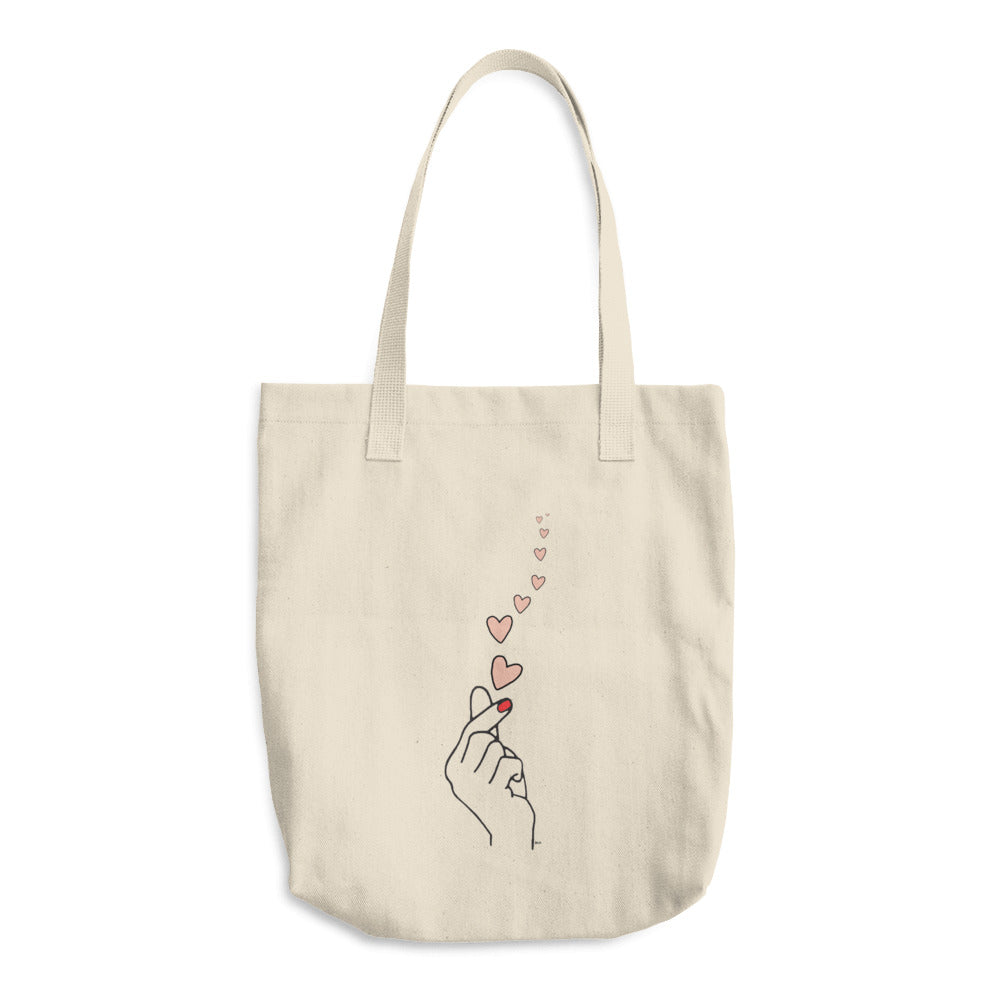 Love Snap Cotton Tote Bag