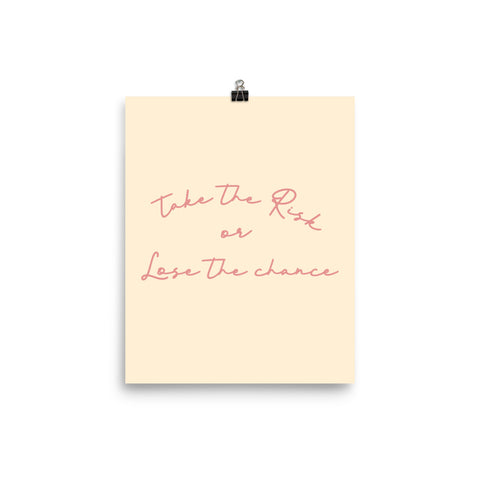Take the Risk Poster