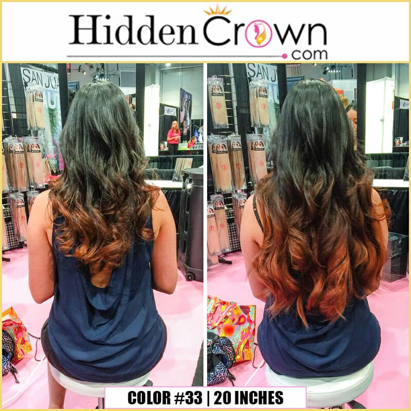 #33 _ 20 inches _ instant red ombre _ back _ IBS